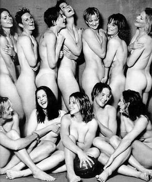 Nude Australian soccer team