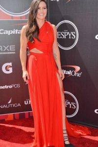Ali Krieger red dress