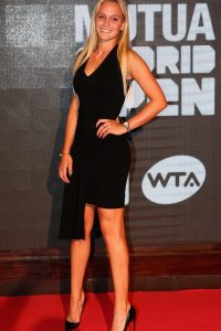 Donna Vekic black dress