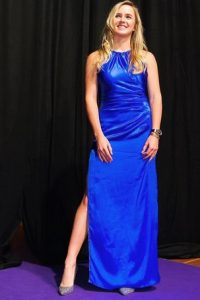 Elina Svitolina blue dress