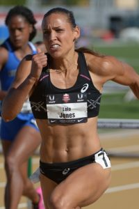 Lolo Jones running